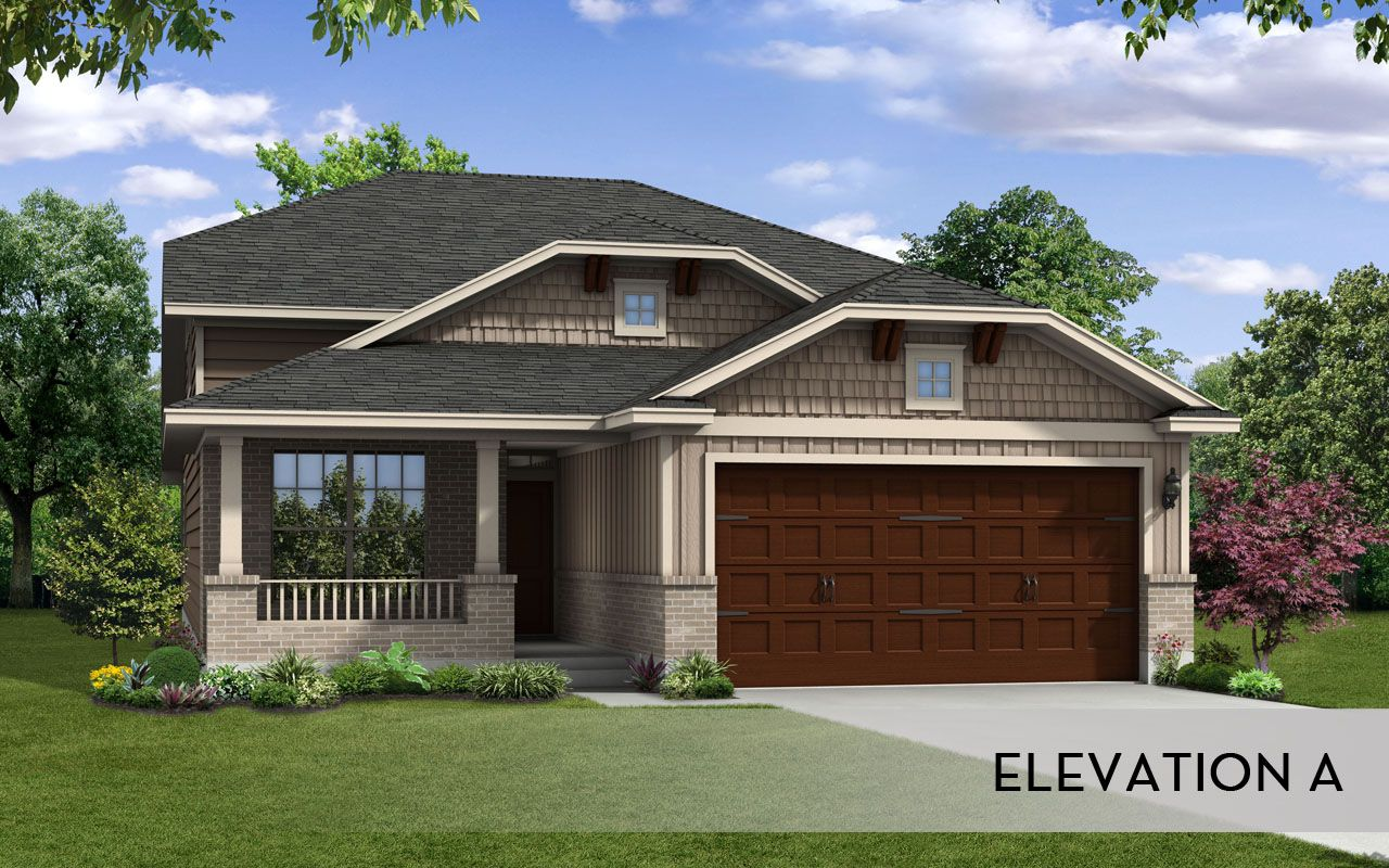 Carrizo silver home plan by castlerock communities in for Build on your lot houston floor plans
