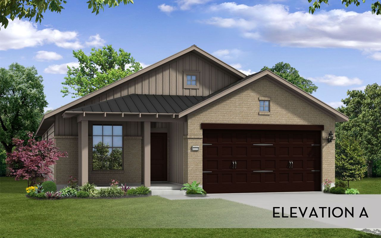 Comanche silver home plan by castlerock communities in for Build on your lot houston floor plans