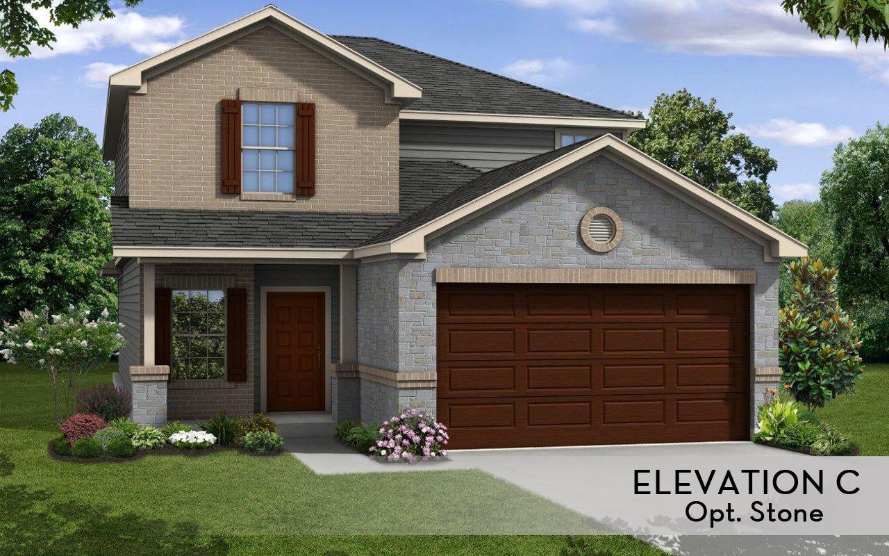 Neches cobalt home plan by castlerock communities in for Laurel home