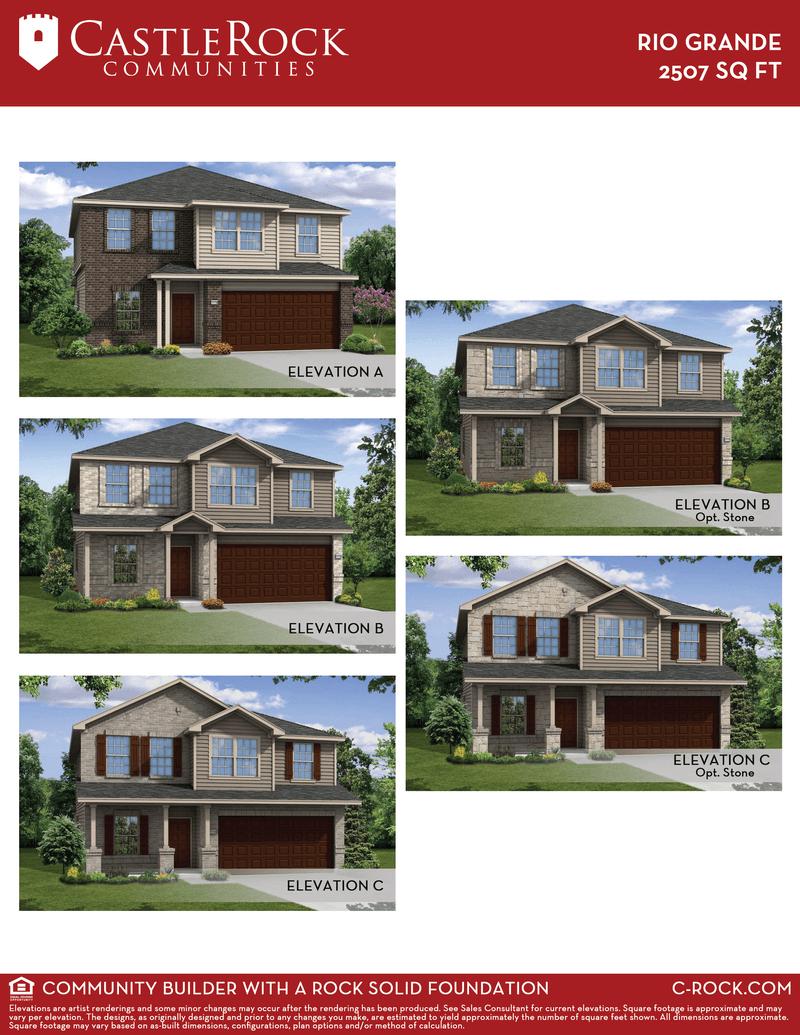 Rio Grande Cobalt Home Plan By Castlerock Communities In
