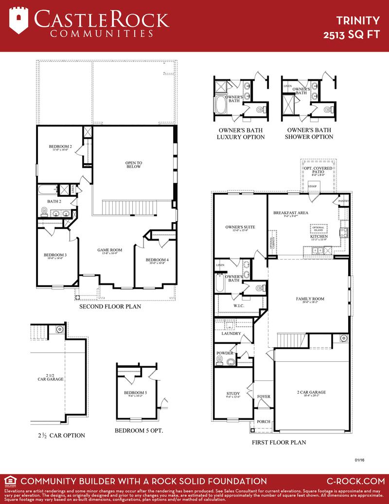 Trinity Cobalt Home Plan By Castlerock Communities In