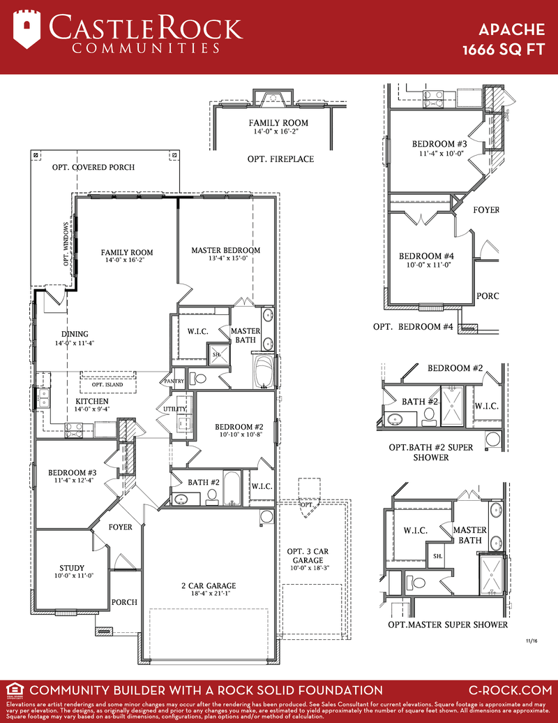 Apache silver home plan by castlerock communities in build for Build on your lot houston floor plans