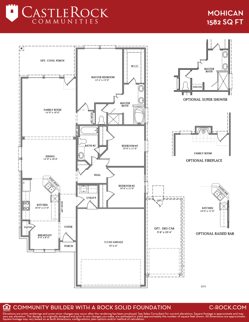 Mohican silver home plan by castlerock communities in for Build on your lot houston floor plans
