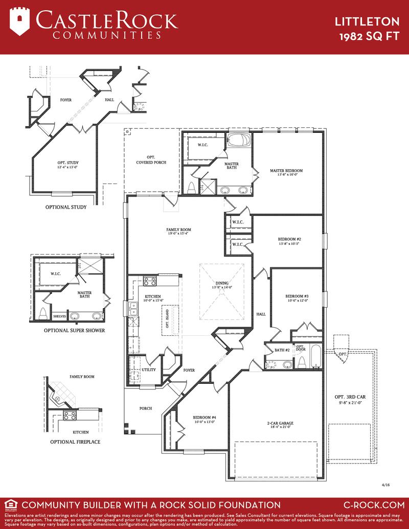 Castle rock home floor plans for Castle rock floor plans
