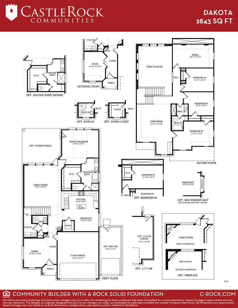 Dakota silver home plan by castlerock communities in for Dakota floor plan