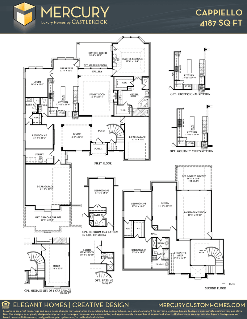 Cappiello mercury luxury home home plan by castlerock for Build on your lot houston floor plans