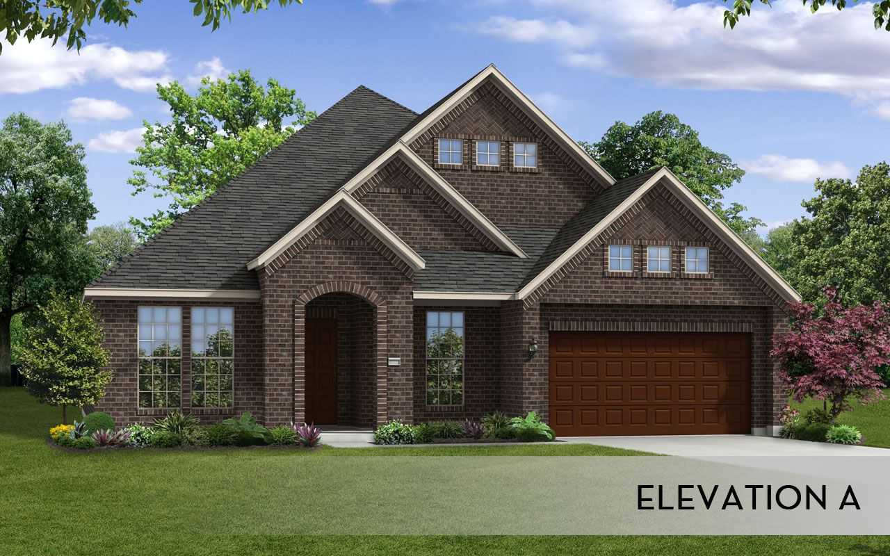 Atascadero gold home plan by castlerock communities in for Build on your lot houston floor plans