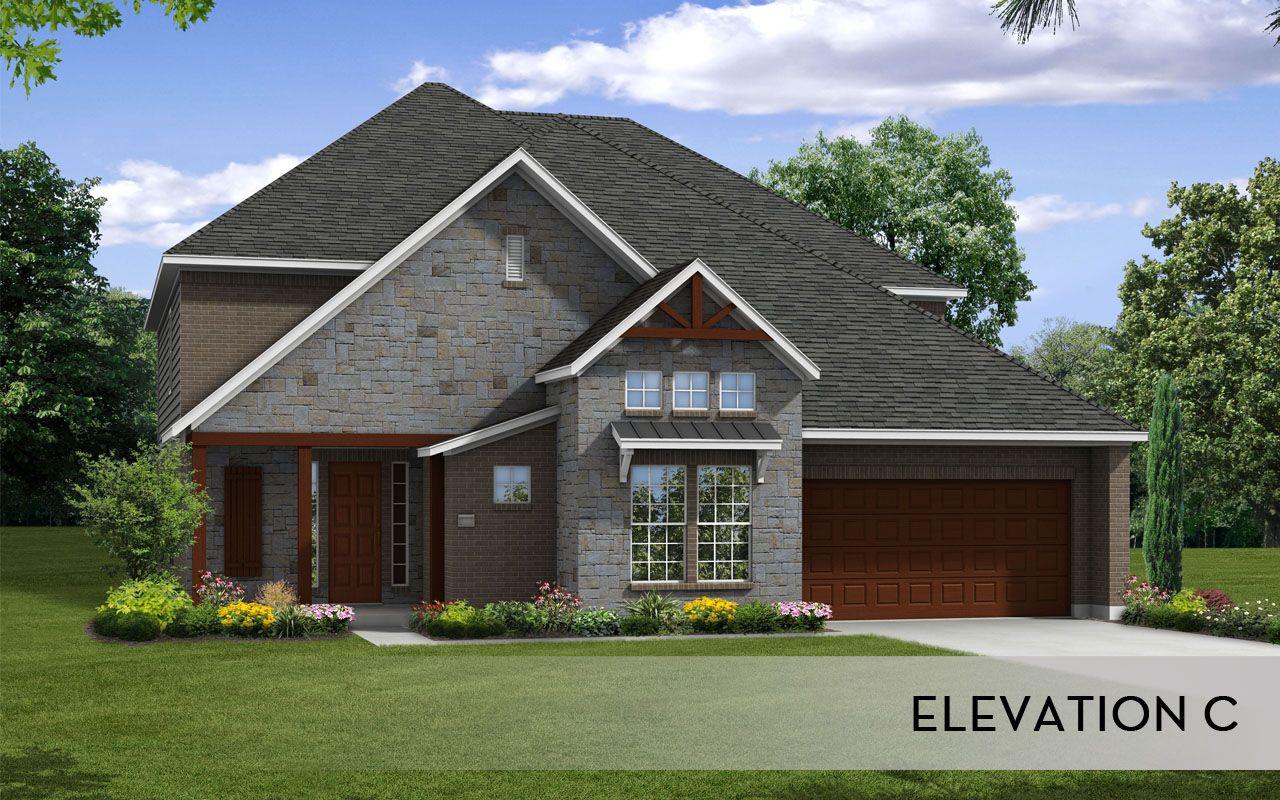 Laguna iii gold home plan by castlerock communities in for Build on your lot houston floor plans