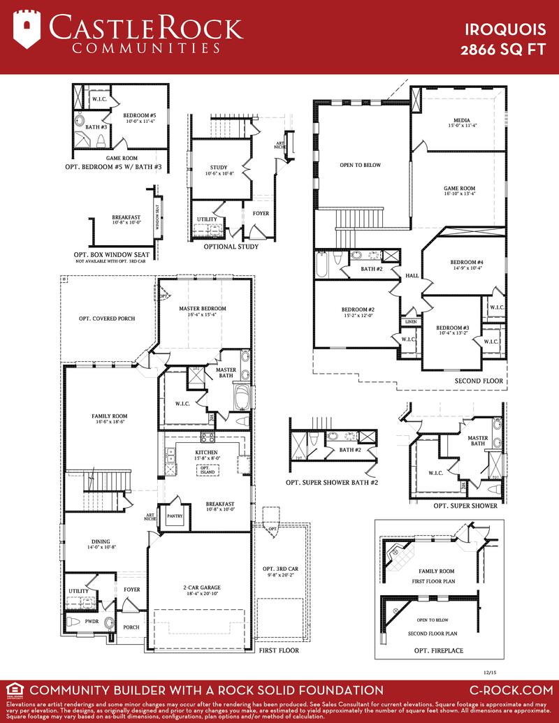 Iroquois silver home plan by castlerock communities in for Castle rock floor plans