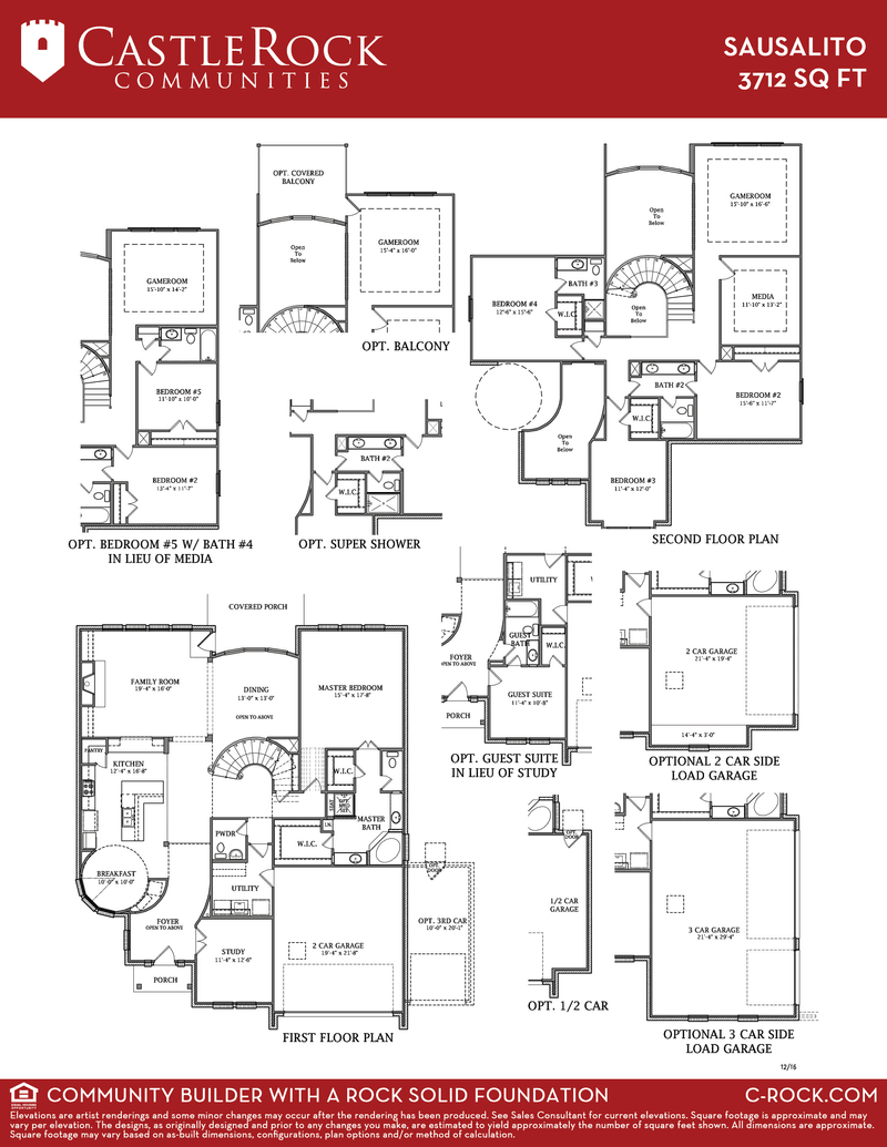 Sausalito gold home plan by castlerock communities in for Build on your lot houston floor plans