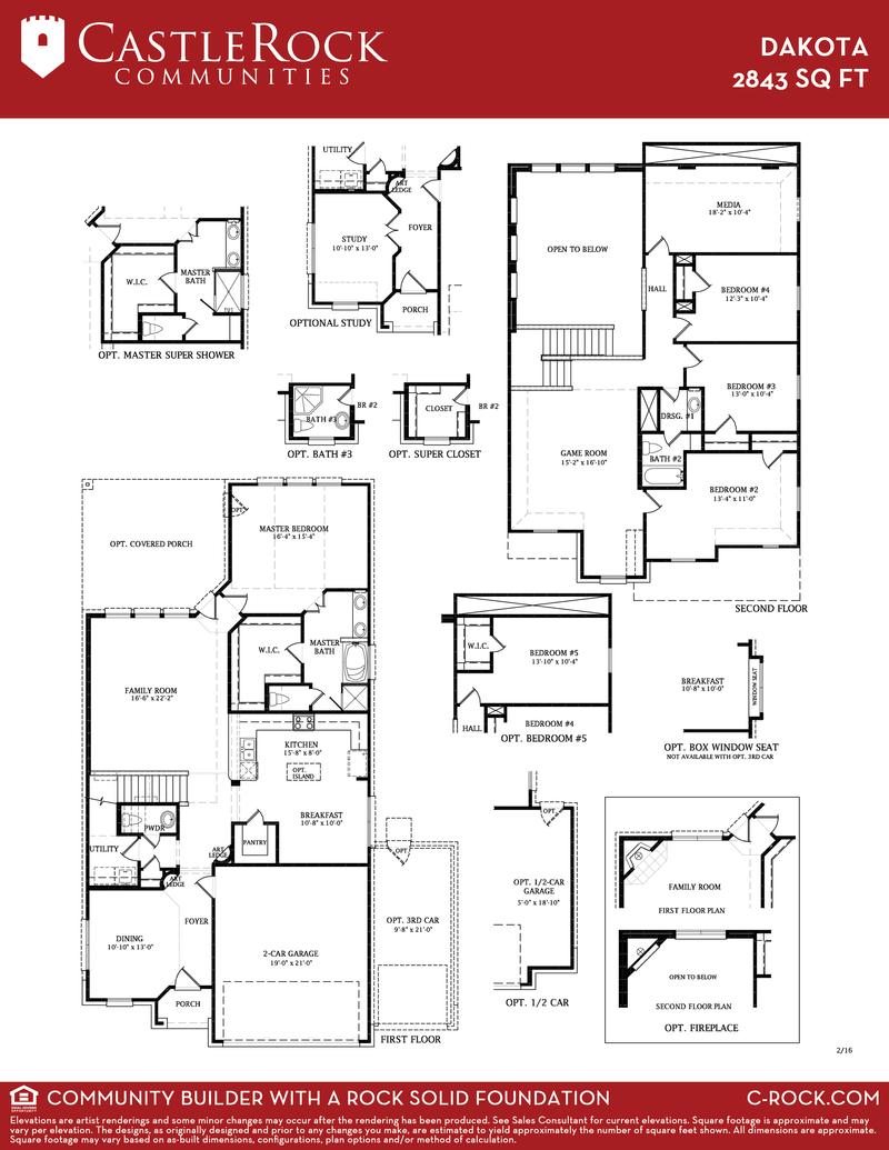 Dakota 3 Car Silver Home Plan By Castlerock Communities