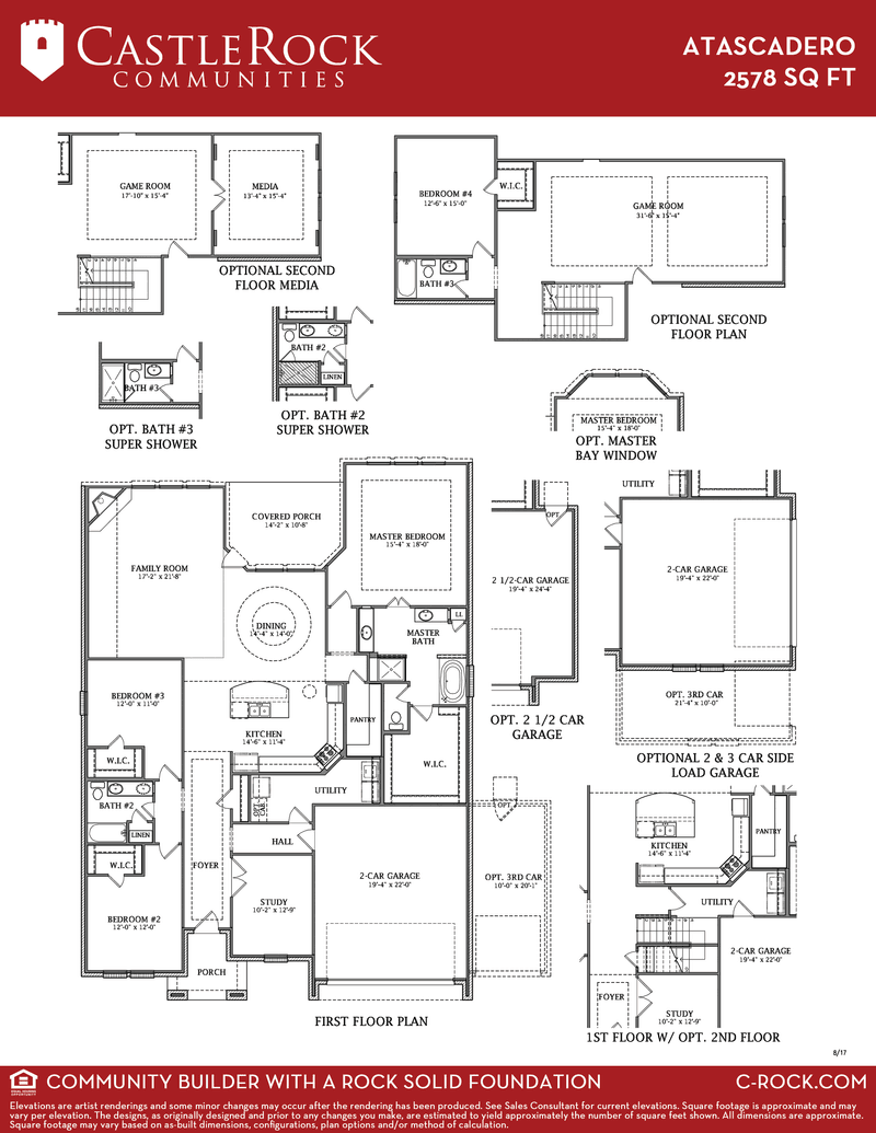 Atascadero Gold Home Plan By Castlerock Communities In