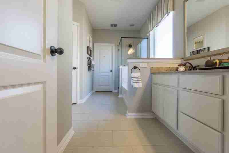 Master bath with lots of storage