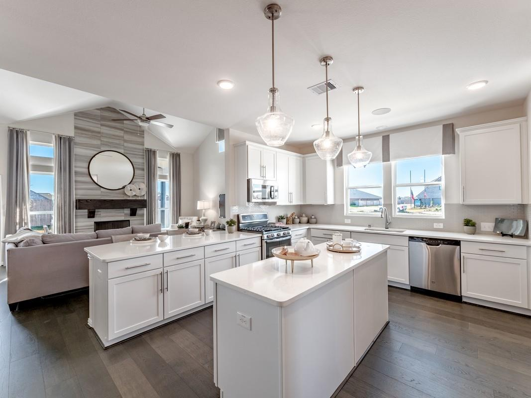 Kitchen featured in the San Marcos-Silver By CastleRock Communities in Houston, TX