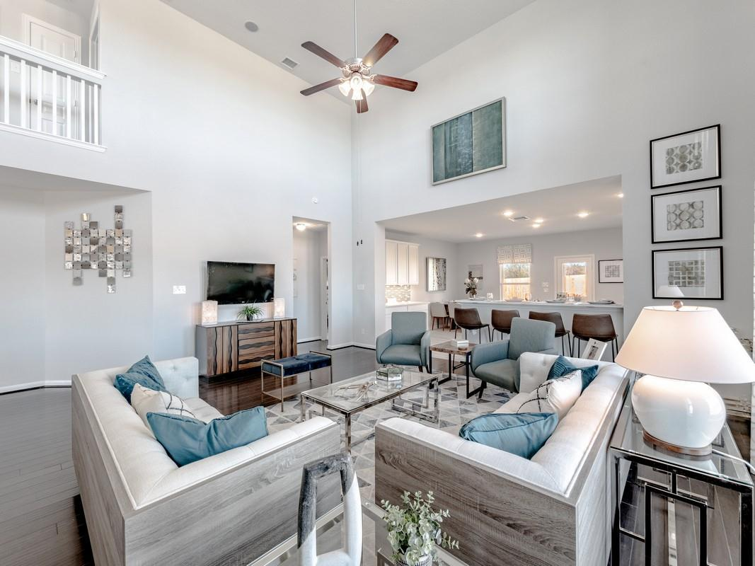 Living Area featured in the Trinity-Cobalt By CastleRock Communities in San Antonio, TX