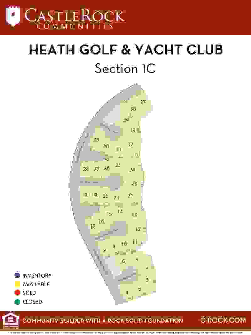 Heath Section 1C Lot Map