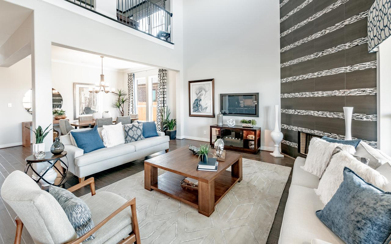 Living Area featured in the Frisco-Gold By CastleRock Communities in Dallas, TX