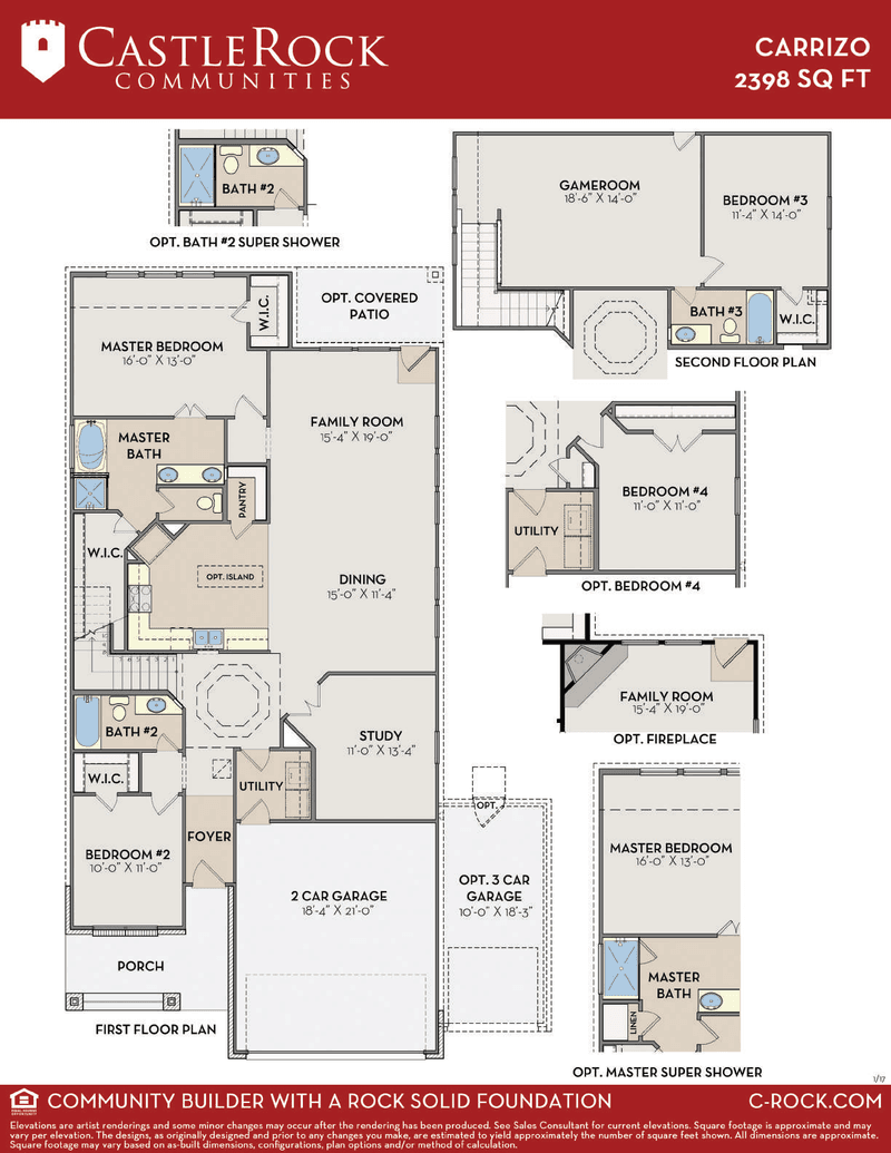 Carrizo Silver Home Plan By Castlerock Communities In