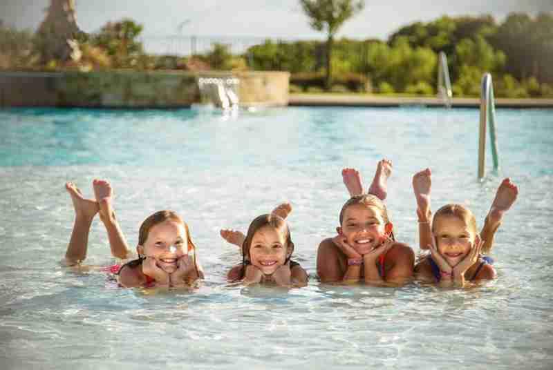 Summer fun at community pool
