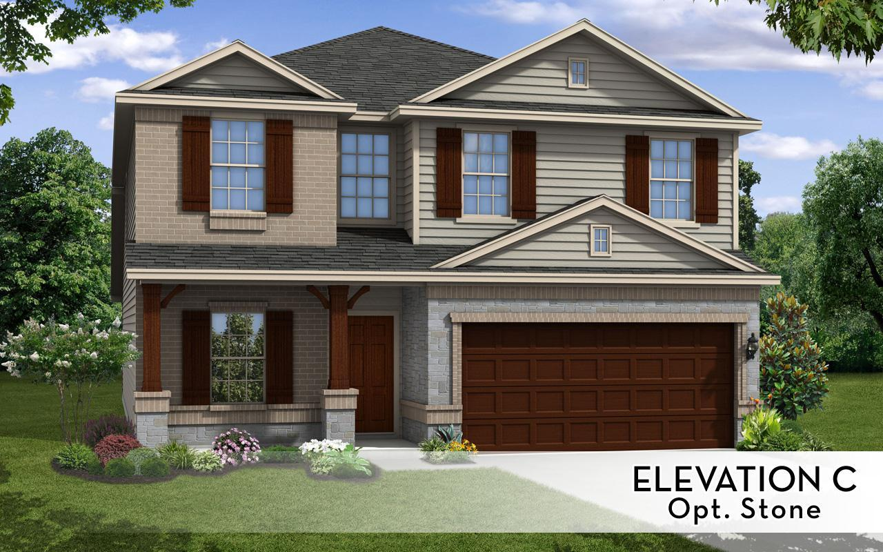 Exterior featured in the Trinity-Cobalt By CastleRock Communities in Houston, TX