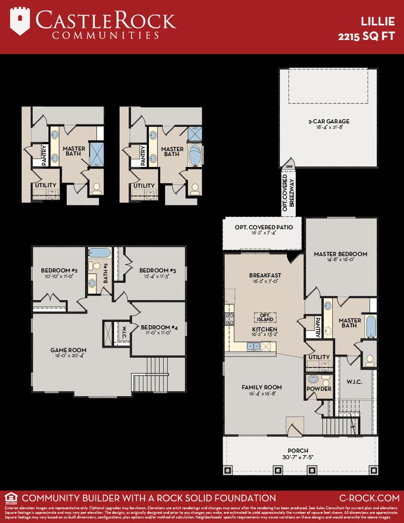 Txu Energy Plans >> Lillie-Cobalt Home Plan by CastleRock Communities in Viridian