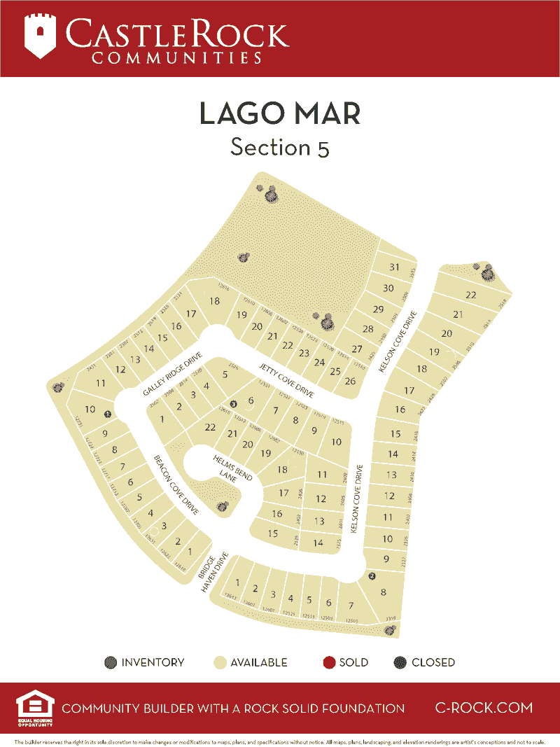 Lago Mar Section 5 Map