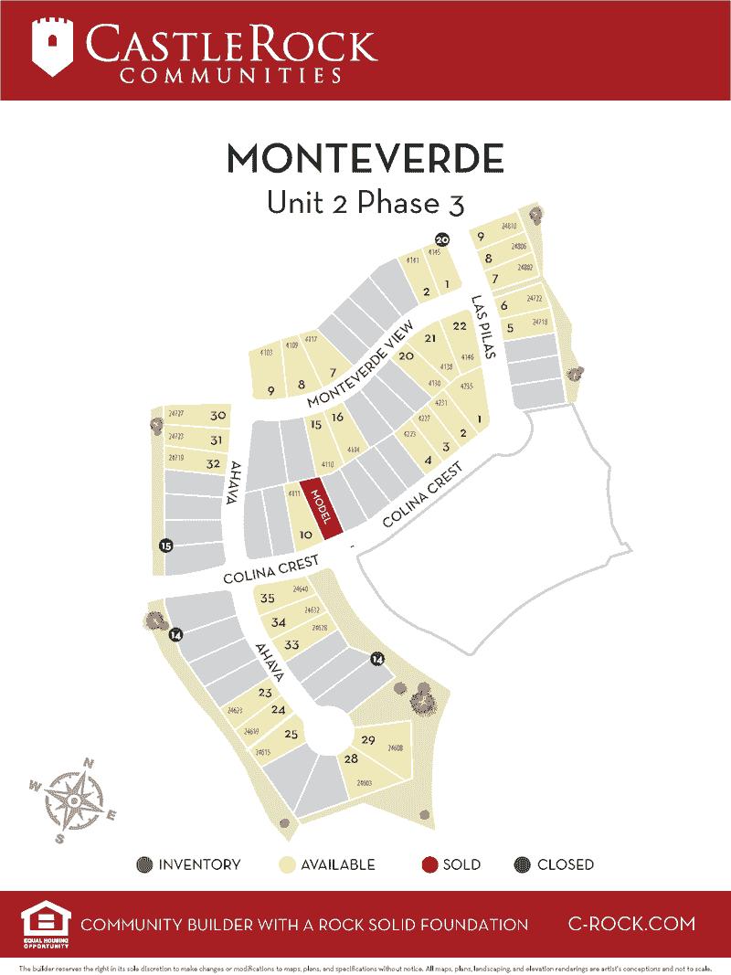 Monteverde at Cibolo Map Unit 2 phase 3