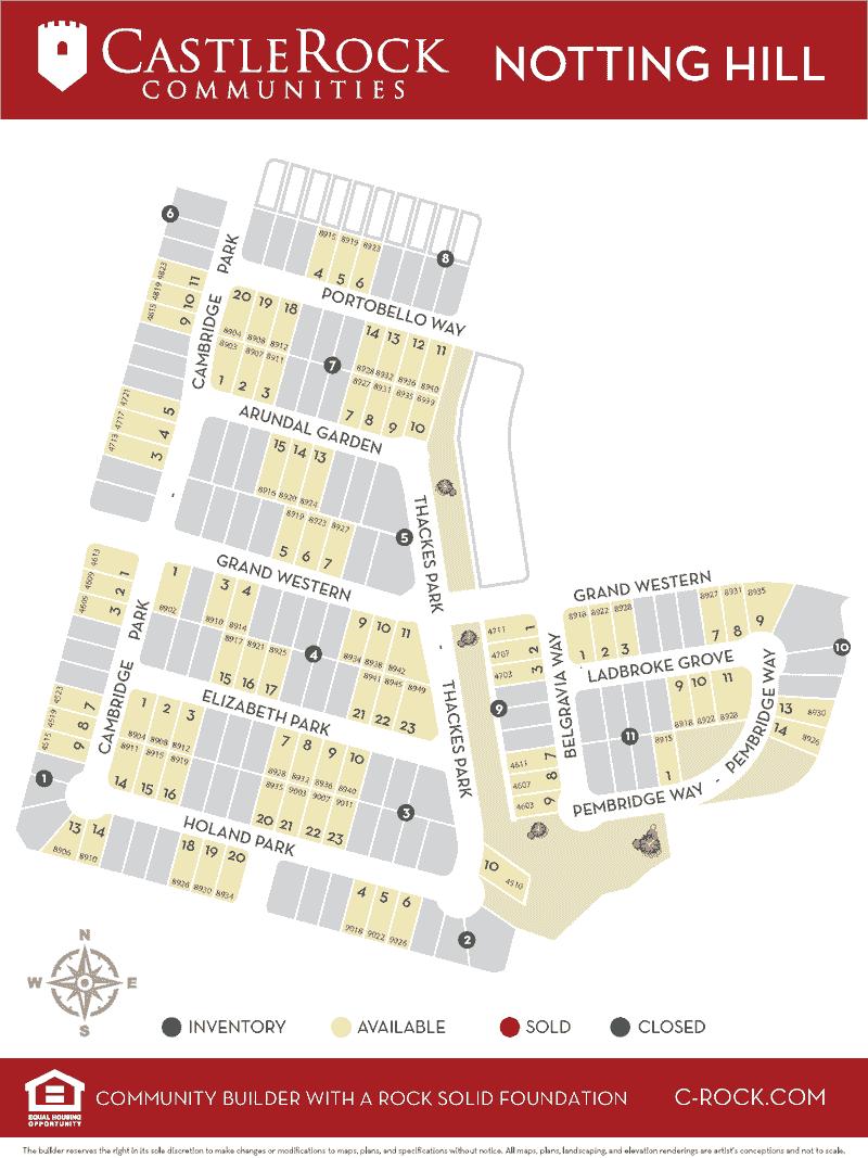 Notting Hill Lot Map