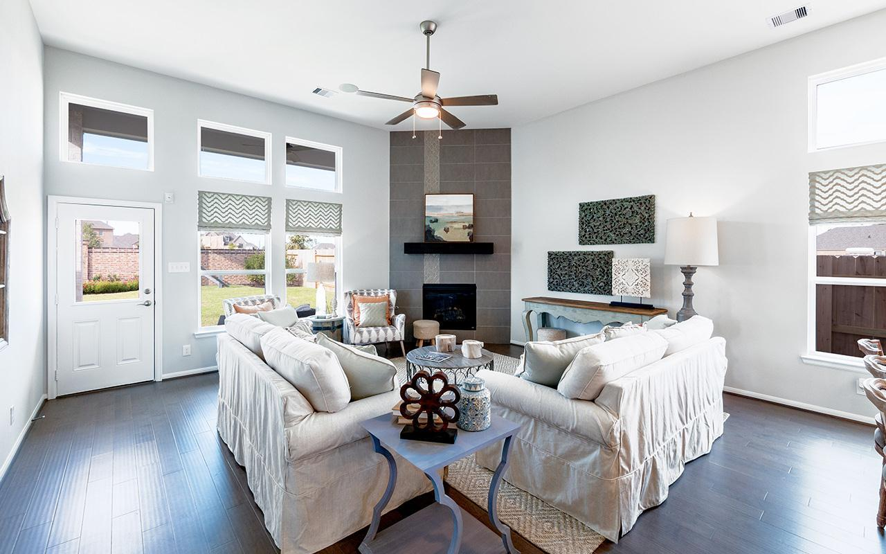Living Area featured in the Yuma-Silver By CastleRock Communities in Houston, TX