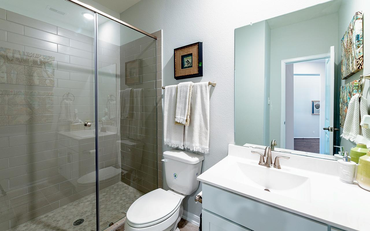 Bathroom featured in the Yuma-Silver By CastleRock Communities in Brazoria, TX