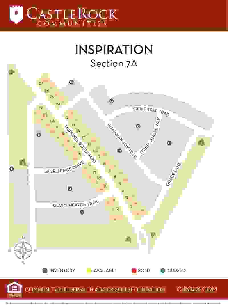 Inspiration Section 7 Lot Map
