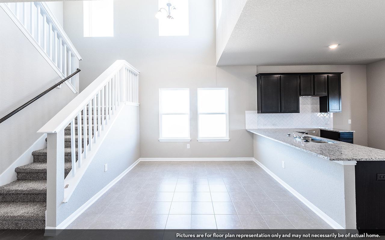 Kitchen featured in the Blanco-Cobalt By CastleRock Communities in Houston, TX