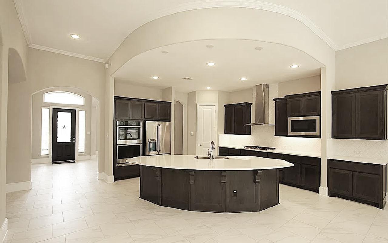Kitchen featured in the Merion-Mercury Luxury Home By CastleRock Communities in Brazoria, TX