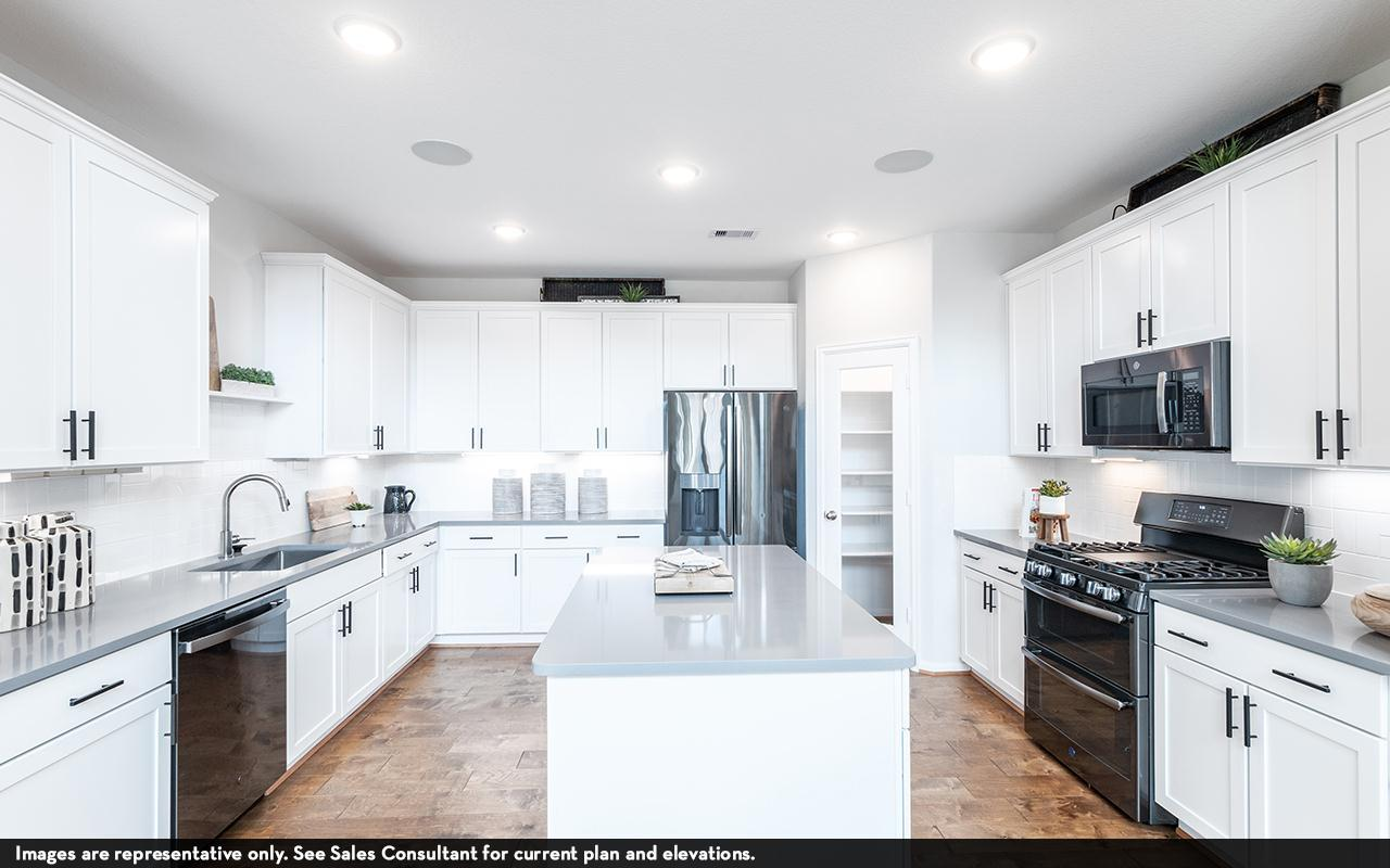 Kitchen featured in the Silverthorne-Silver By CastleRock Communities in Houston, TX