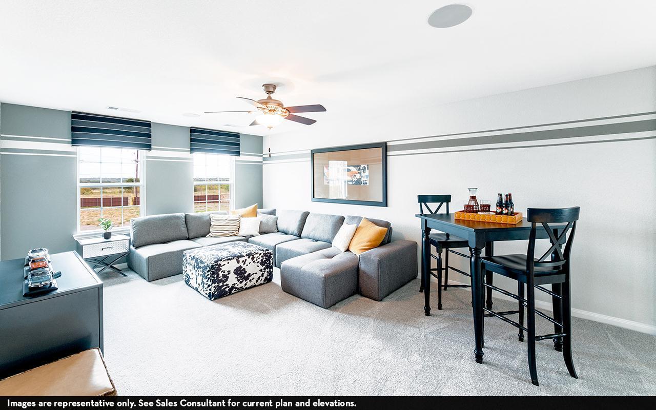 Living Area featured in the Rio Grande-Cobalt By CastleRock Communities in Austin, TX