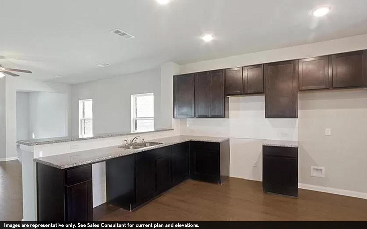 Kitchen featured in the Comal-Cobalt By CastleRock Communities in Austin, TX
