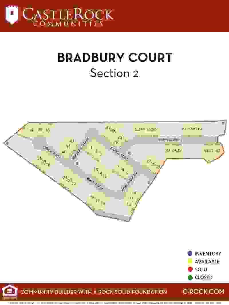 Bradbury Court Section 2 Lot Map