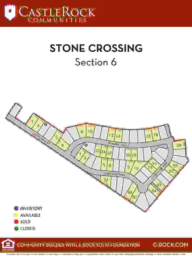 Stone Crossing Section 6 Lot Map