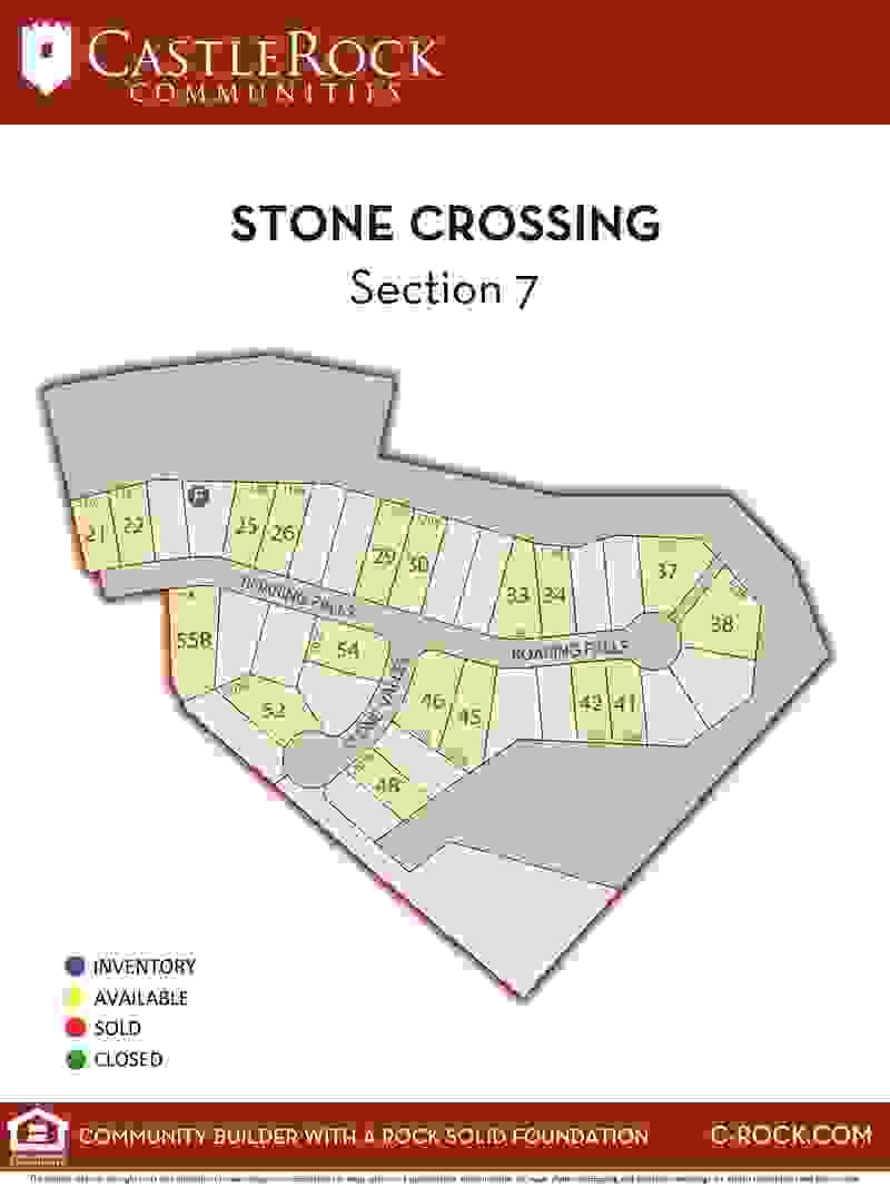 Stone Crossing Section 7 Lot Map