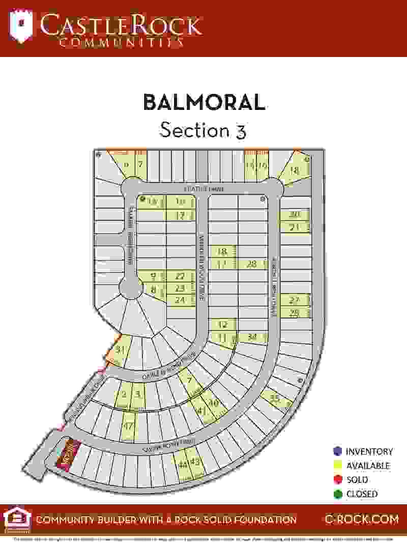 Balmoral Section 3 Lot Map