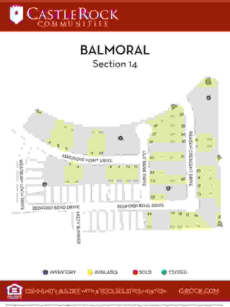 Balmoral Section 14 Lot Map