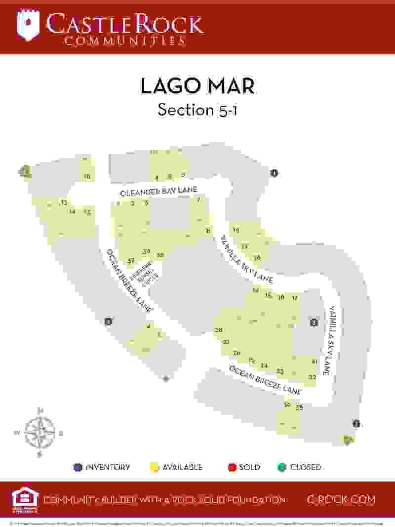 Lago Mar Section 5-1 Lot Map