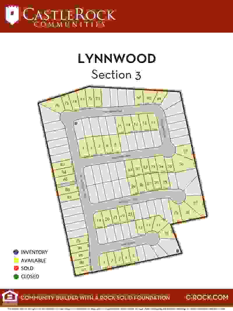 Lynnwood Section 3 Lot Map