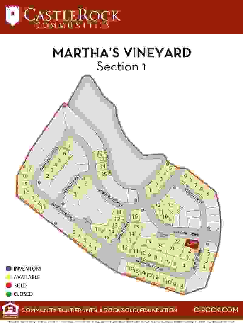 Martha's Vineyard Section 1 Lot Map