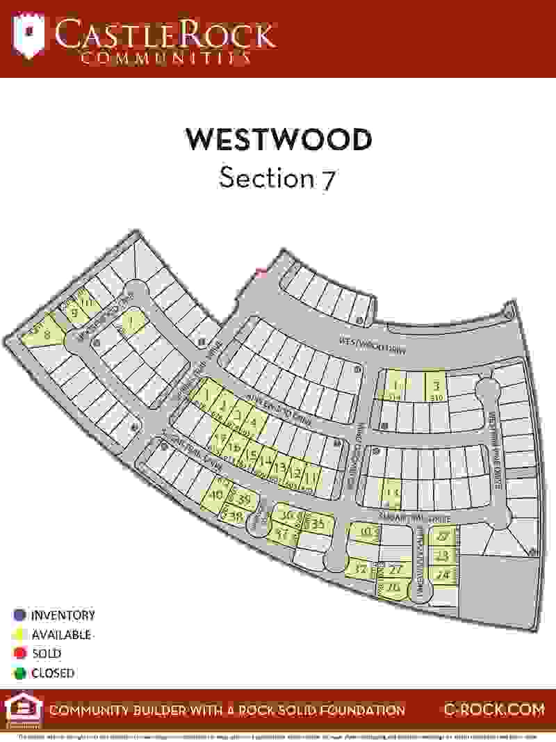 Westwood Section 7 Lot Map