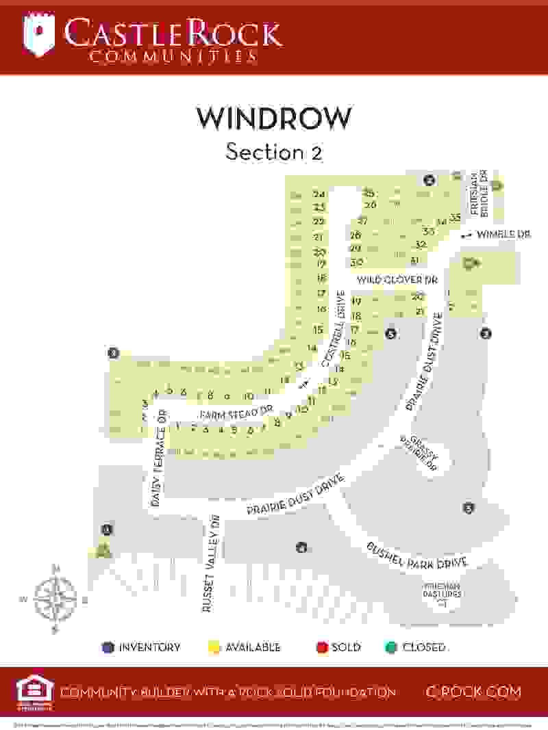 Windrow Section 2 Lot Map