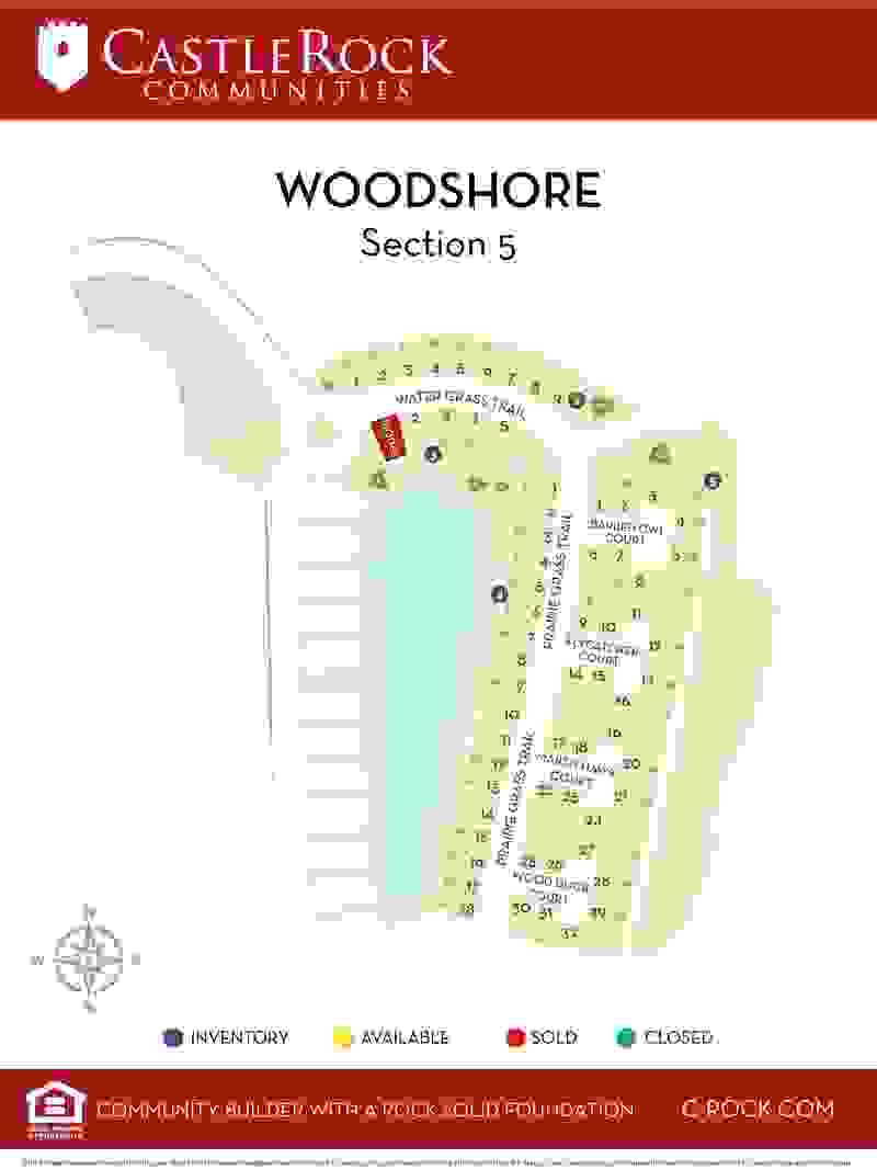 Woodshore Section 5 Lot Map