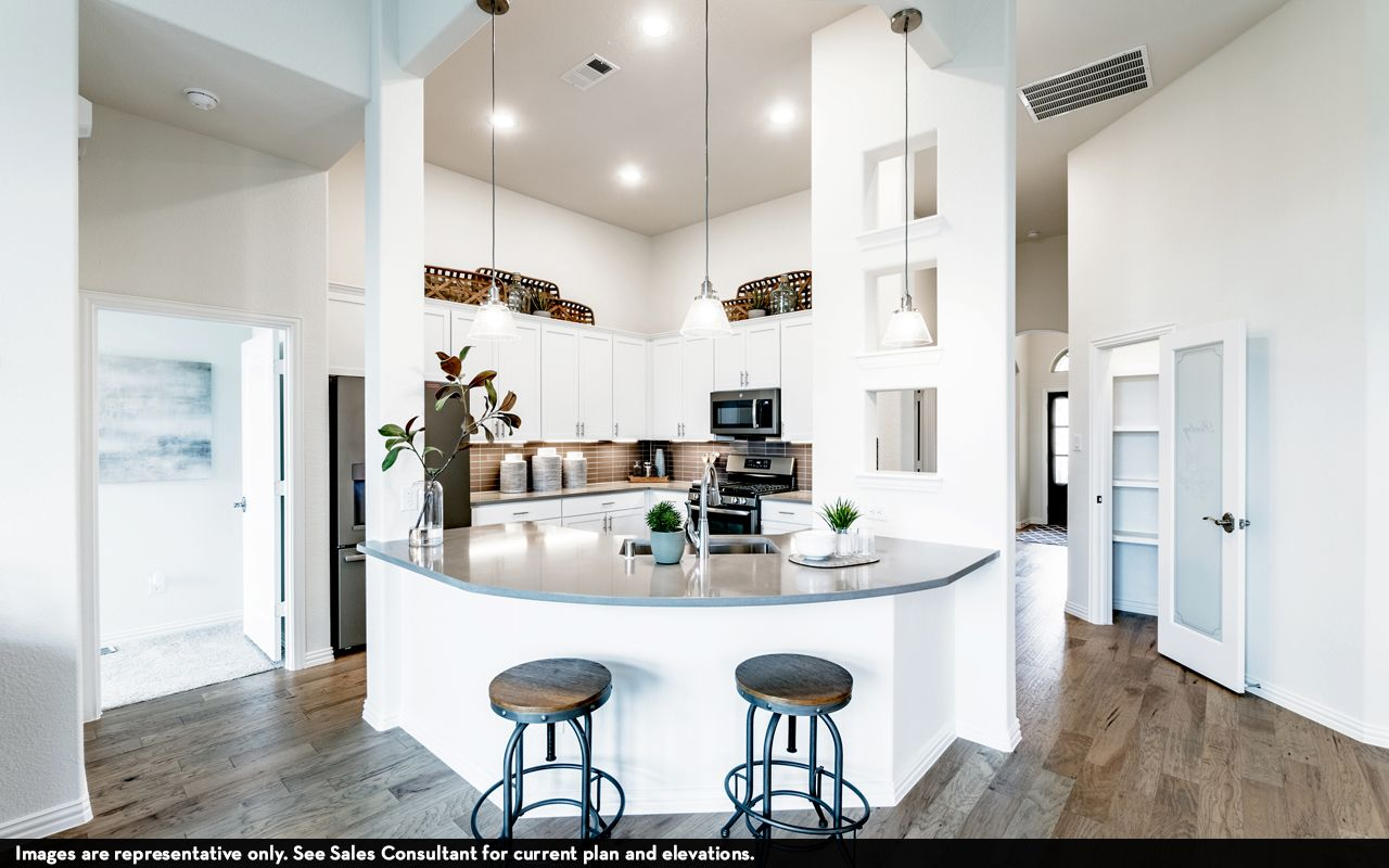 Kitchen featured in the Greeley-Silver By CastleRock Communities in Dallas, TX