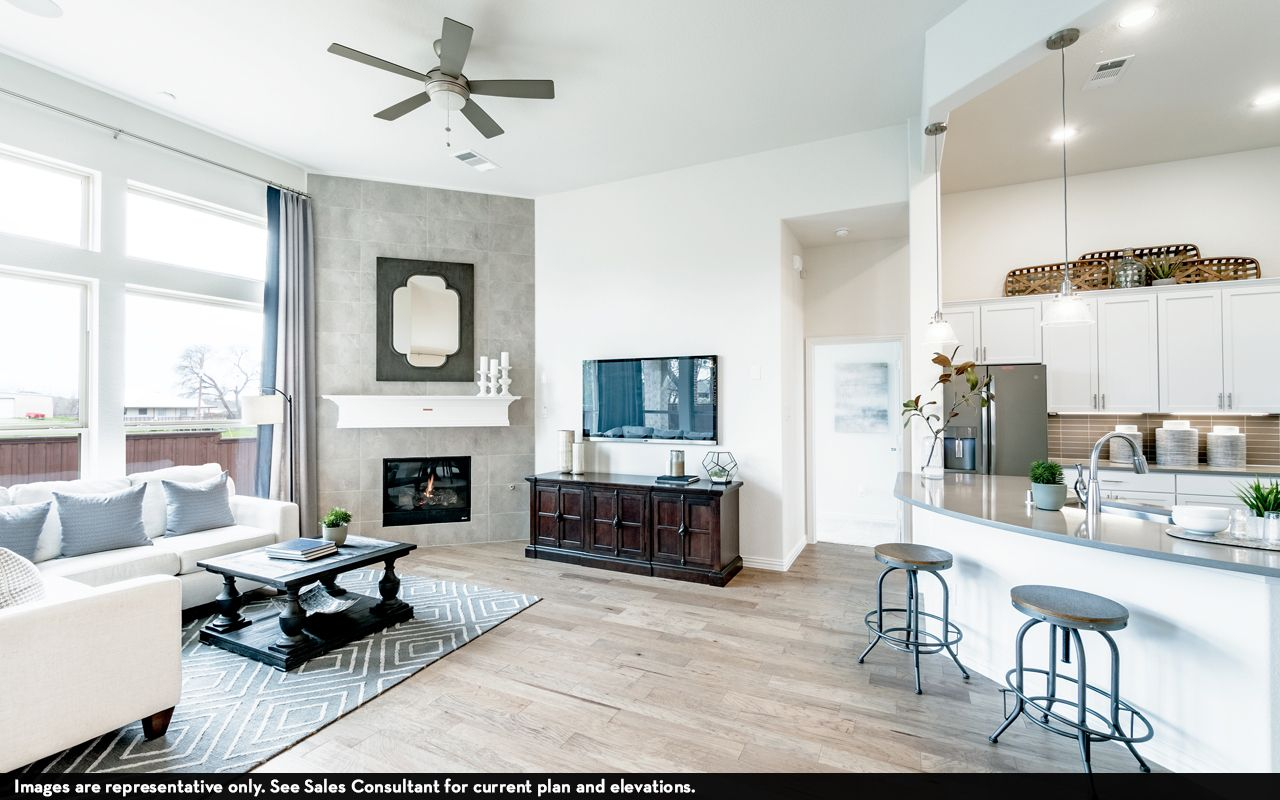 Living Area featured in the Greeley-Silver By CastleRock Communities in Austin, TX