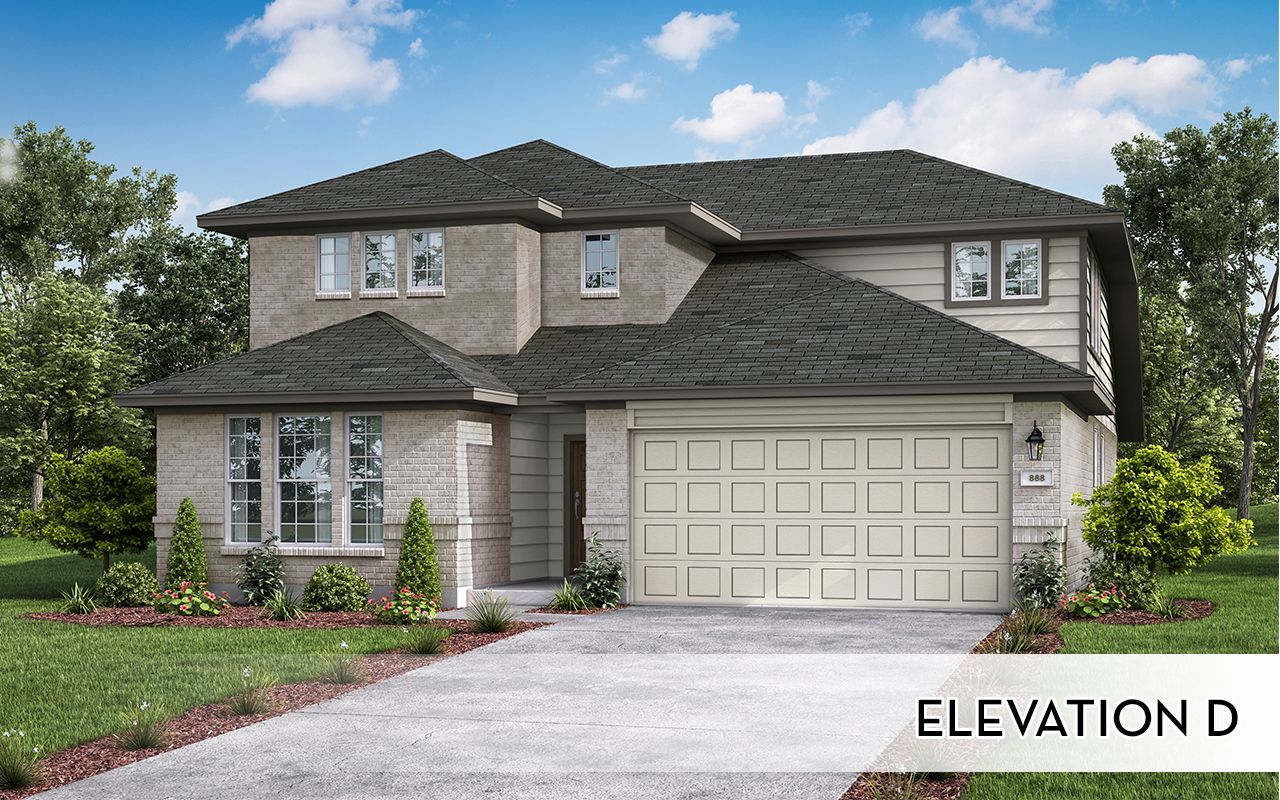 Exterior featured in the Yuma-Silver  By CastleRock Communities in Houston, TX